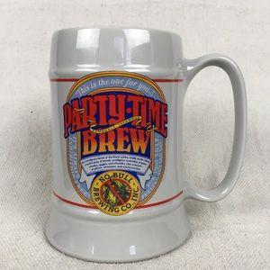 Vintage 1986 Hallmark Party-Time Brew mug stein